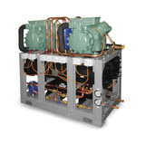 Water condensed chillers and heat pumps
